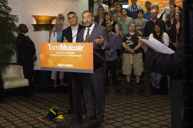 Thomas Mulcair a recruté l'ancien grand argentier du gouvernement... (Photo Michelle Siu, La Presse Canadienne)
