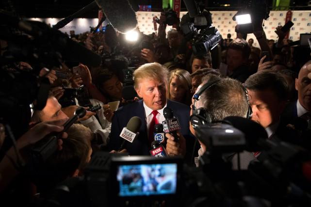 La plateforme du candidat républicain propose un changement... (PHOTO JOHN MINCHILLO, ASSOCIATED PRESS)