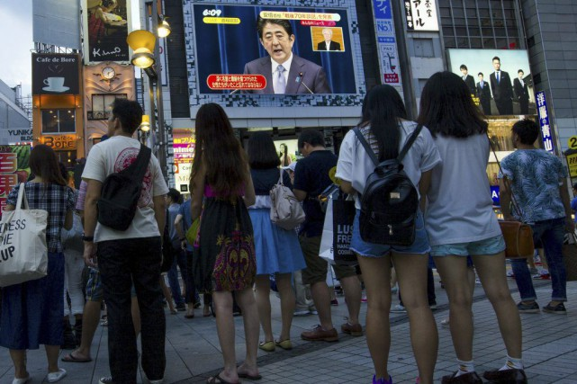 Le premier ministre Shinzo Abe a exprimé ses... (PHOTO THOMAS PETER, REUTERS)