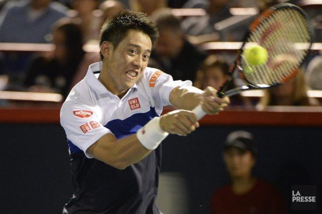 Kei Nishikori... (Photo Bernard Brault, La Presse)