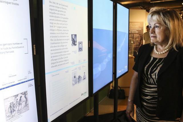 L'exposition 100% numérique est présentée sur quatre écrans,...