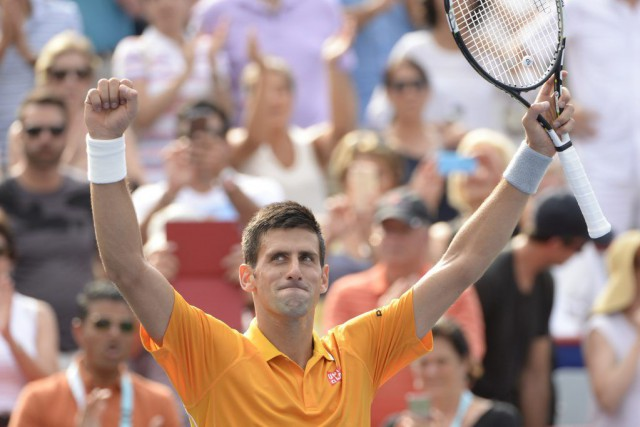 Novak Djokovic... (PHOTO BERNARD BRAULT, LA PRESSE)