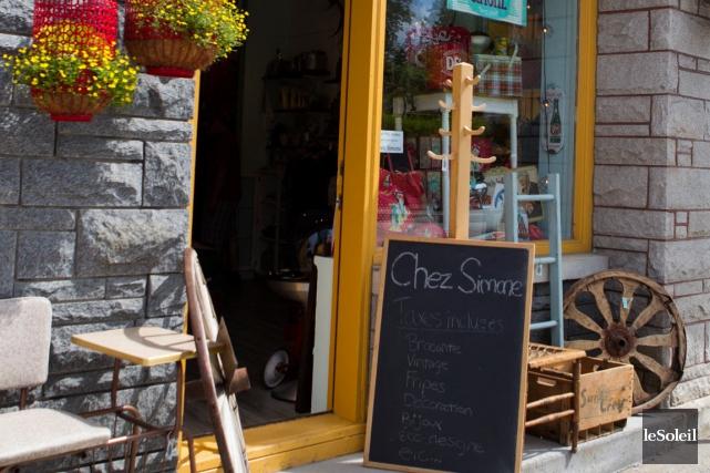 La boutique s'insère dans un secteur de la... (Le Soleil, Caroline Grégoire)