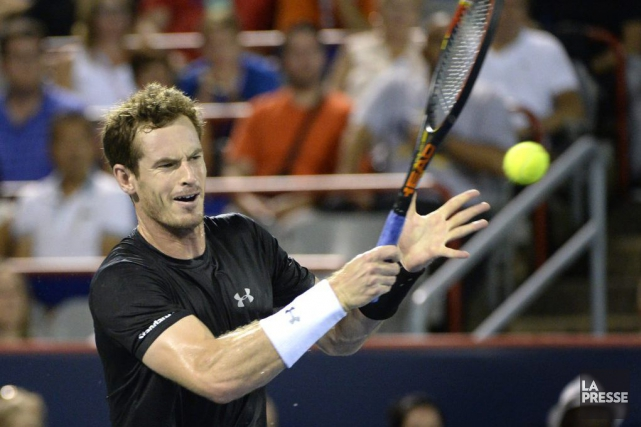 Andy Murray a écraséKei Nishikori6-3, 6-0, samedi soir,... (Photo Bernard Brault, La Presse)