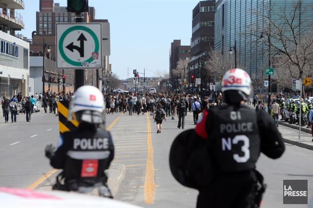 Les manifestations contre l'austérité du printemps dernier ont... (Martin Chamberland, Archives La Presse)