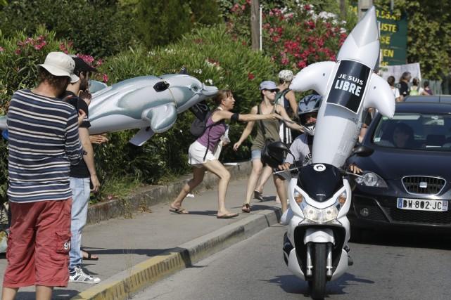 Quelque 500 défenseurs des animaux venus de toute... (Photo AP)