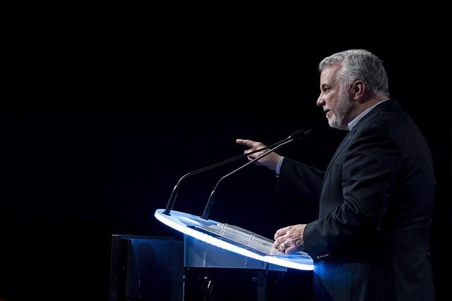 Philippe Couillard a formulé ses demandes aux chefs... (Photo La Presse Canadienne)