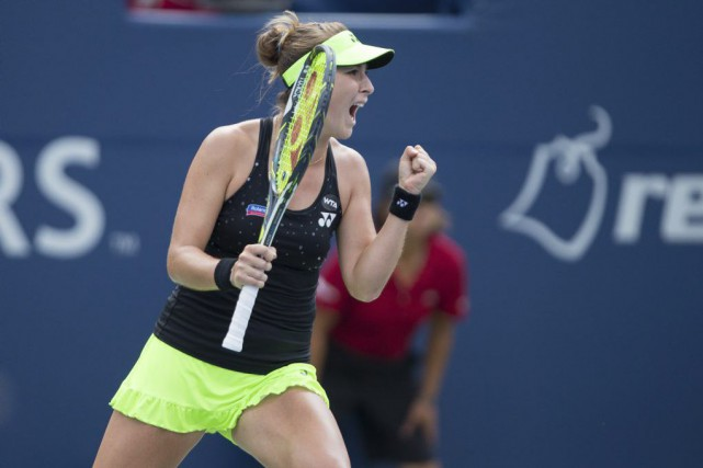 Belinda Bencic... (PHOTO GEOFF ROBINS, AFP)