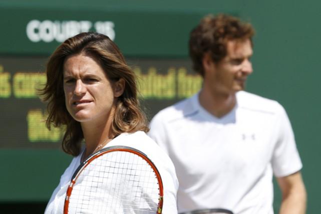 Amélie Mauresmo entraîne Andy Murray depuis mai 2014.... (PHOTO REUTERS)