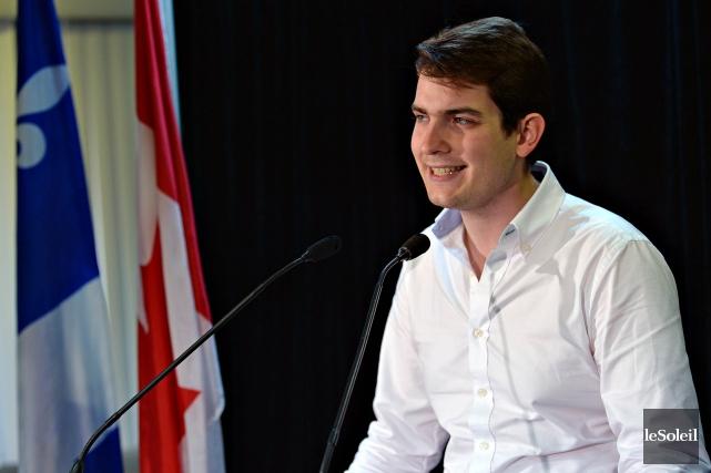 Nicolas Perrino, le président de l'aile jeunesse libérale,... (Photo: Le Soleil)