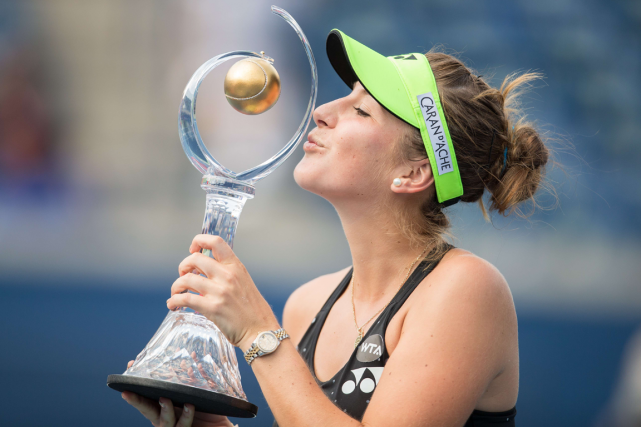 La Suissesse de 18 ans Belinda Bencic a embrassé... (Photo Frank Gunn, PC)