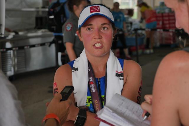 Caroline St-Pierre a terminé l'Ironman de Mont-Tremblant au... (Photo fournie par 10-21-42 km magazine)