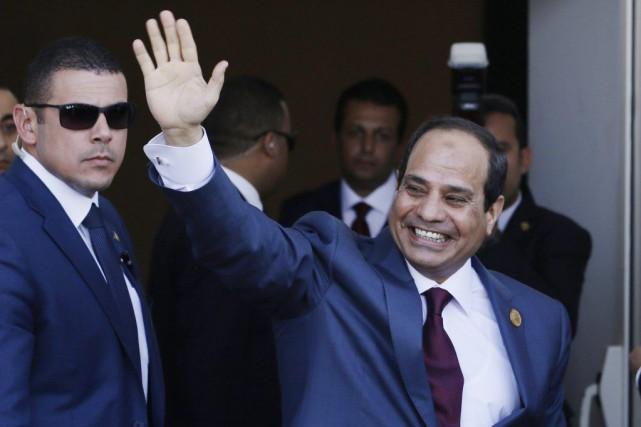 Le président égyptien Abdel Fattah al-Sissi... (PHOTO HASSAN AMMAR, ARCHIVES AP)