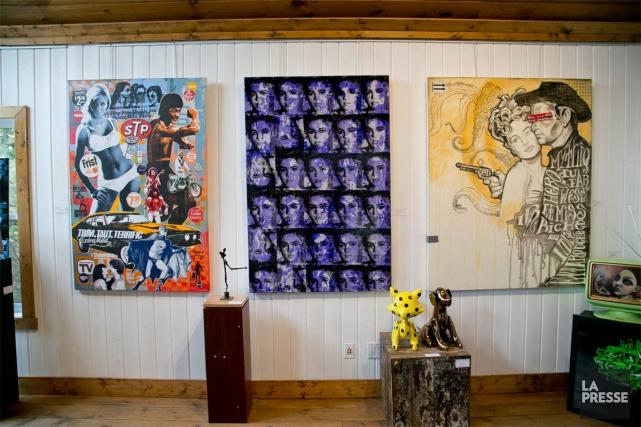 Une vue de l'intérieur de la galerie Artêria,... (PHOTO DAVID BOILY, LA PRESSE)