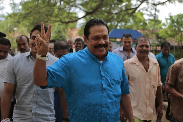 Mahinda Rajapaksa... (PHOTO AP)