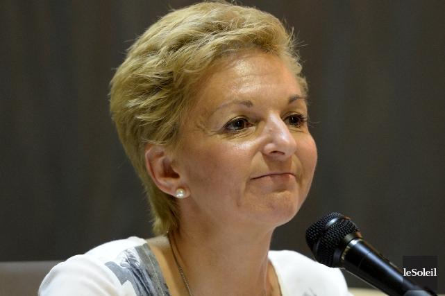 La présidente de la Commission d'environnement intérimaire et... (Le Soleil, Erick Labbé)