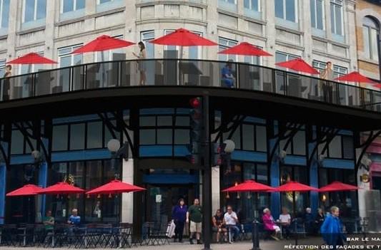 Le projet de terrasse du bar Le Manhattan...