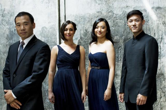 Le Quatuor à cordes Parker, de Boston, joue... (PHOTO FOURNIE PAR L'ACADÉMIE DE MCGILL)