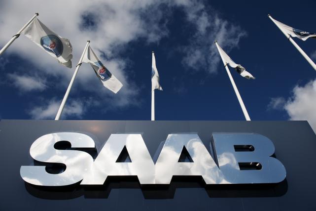 Le groupe de défense Saab a indiqué mardi qu'il refusait l'utilisation de sa... (Photo Jonathan Nackstrand, archives AFP)