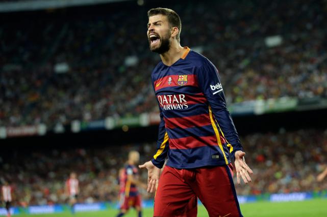 Le défenseur du FC Barcelone Gerard Piqué.... (Photo Manu Fernandez, AP)