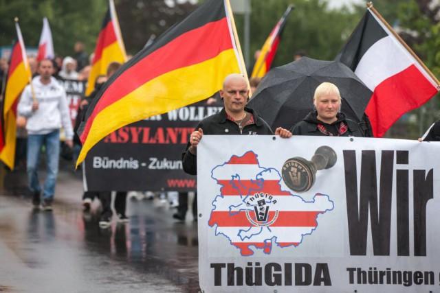 La montée des sentiments xénophobes dans l'est de... (Photo MICHAEL REICHEL, AFP)