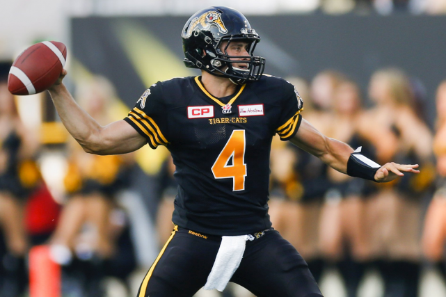 Le quart-arrière des Tiger-Cats de Hamilton, Zach Collaros.... (Photo Mark Blinch, Reuters)