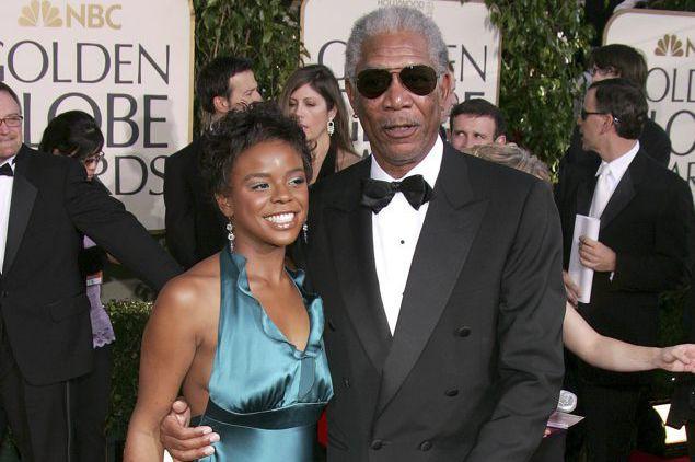 Morgan Freeman en compagnie de sa petite-filleE'Dena Hines...