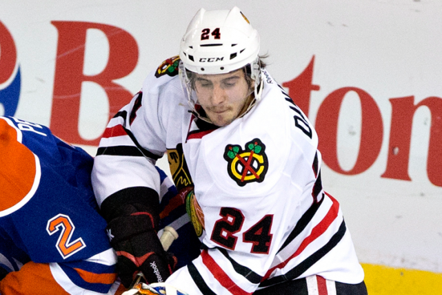 L'espoir des Blackhawks de Chicago Phillip Danault a... (Photo Jason Franson, archives PC)