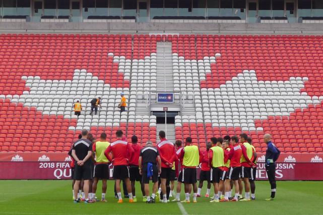 L'équipe canadienne de soccer masculin se retrouvera dans le même groupe que... (Photo archives La Presse Canadienne)