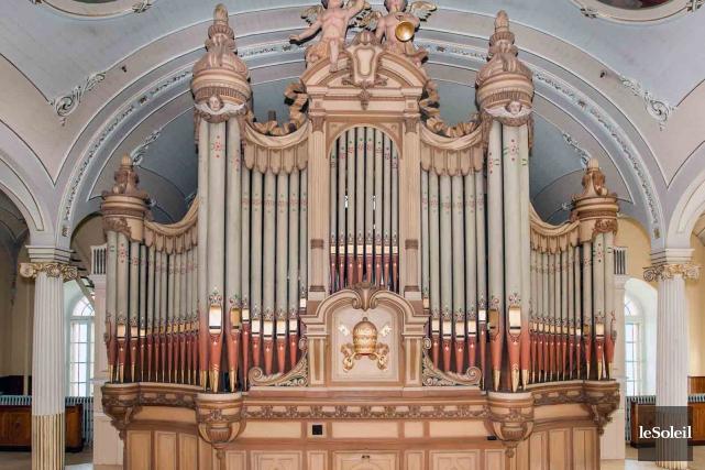 L'orgue Casavant de l'ancienne église Notre-Dame-de-Jacques-Cartier... (Photothèque Le Soleil)