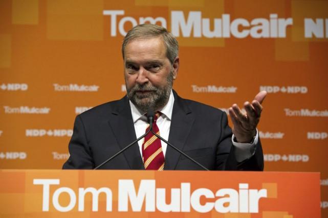 Lundi, le chef néo-démocrate Thomas Mulcair a annoncé... (Archives La Presse Canadienne)