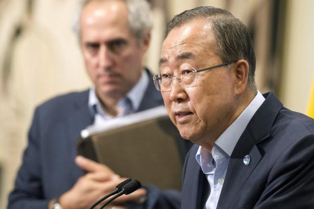 Le secrétaire général de l'ONU Ban Ki-moon avait... (PHOTO Eskinder Debebe AP/NATIONS UNIES)