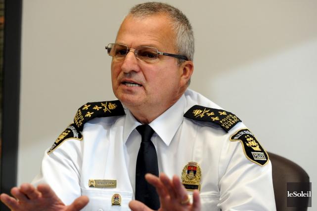 Le chef de la police de Québec, Michel... (Photothèque Le Soleil, Jean-Marie Villeneuve)