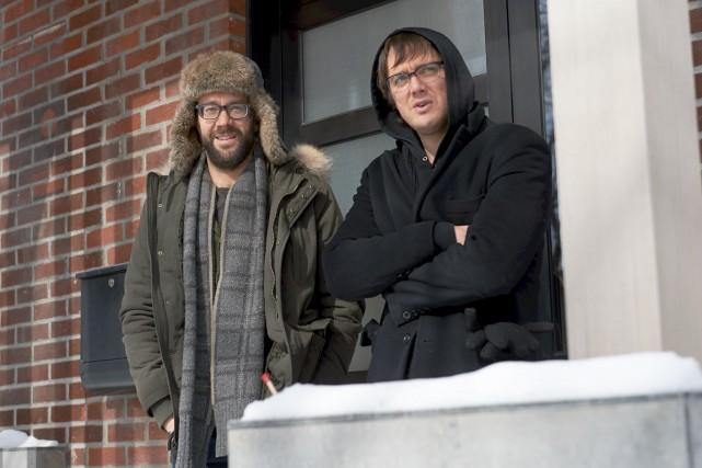 François Létourneau et Vincent-Guillaume Otis reprennent leur rôle... (ICI Radio-Canada Télé)