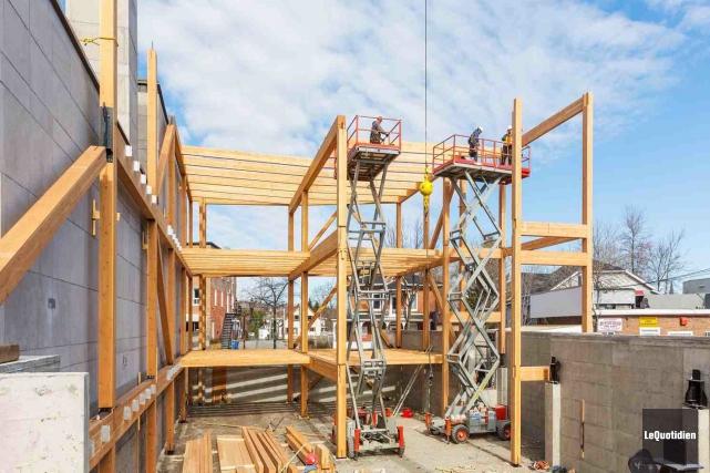 Structure Fusion, la filière bois de Canam, a... (Photo Le Quotidien, Rocket Lavoie)
