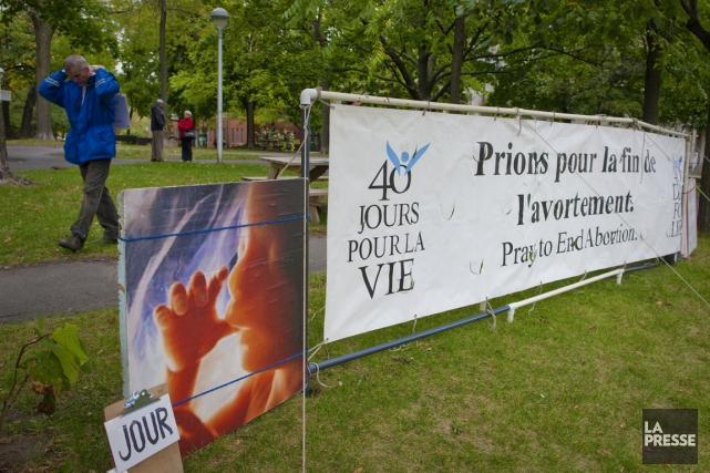 Les membres de Québec-Vie ne pourront plus brandir... (PHOTO ANDRÉ PICHETTE, ARCHIVES LA PRESSE)