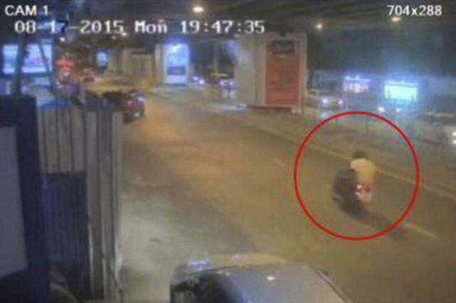 Des images d'une caméra de surveillance montrent un... (PHOTO ROYAL THAI POLICE VIA AP)