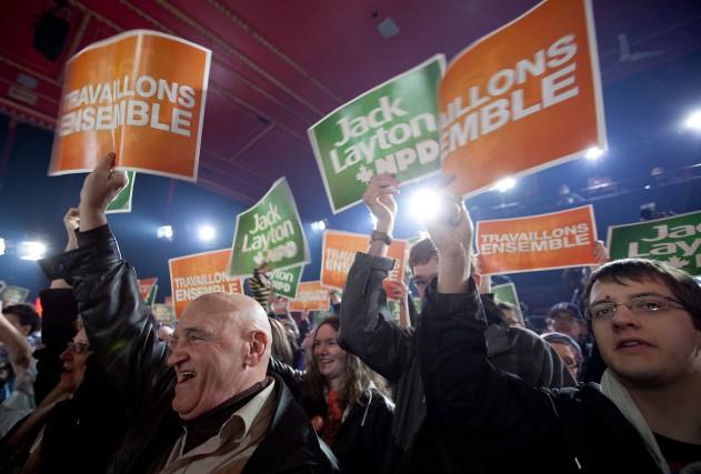 Le NPD serait à 47% aujourd'hui et le... (PHOTO MARCO CAMPANOZZI, ARCHIVES LA PRESSE)