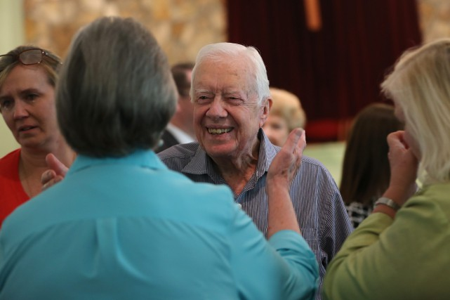 Jimmy Carter a été président des États-Unis de... (Photo Ben Gray, AP/Atlanta Journal-Constitution)