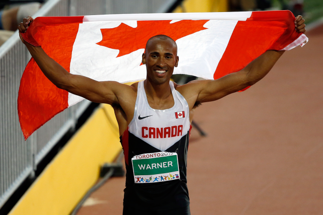 Le décathlonien canadien Damian Warner a remporté la... (Photo Erich Schlegel, USA Today)