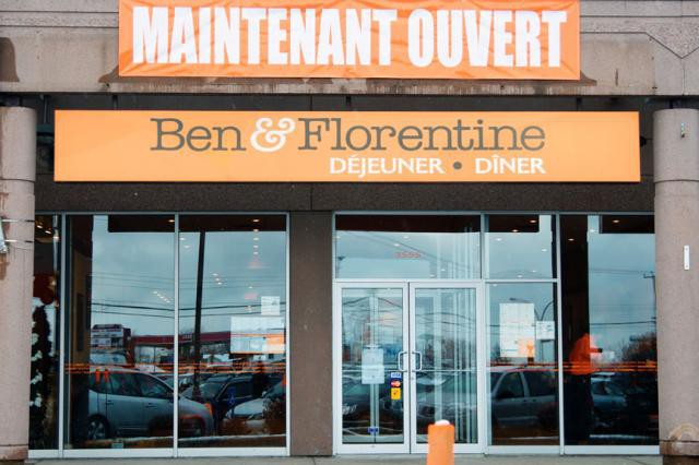 Sherbrooke aura son Ben et Florentine. Le restaurant à déjeuners et à dîners... (benetflorentine.com)
