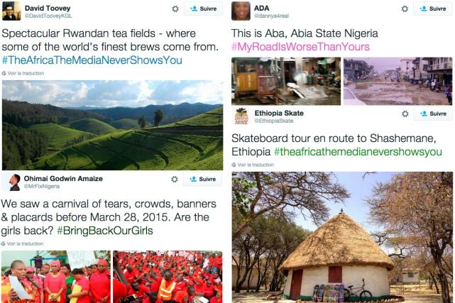 L'Afrique n'est pas que guerre et pauvreté. Las de voir ces stéréotypes... (Photos saisie d'écran)