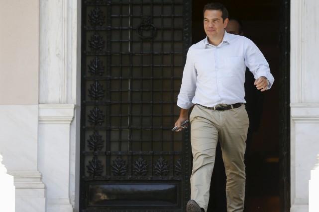 Le premier ministre grec, Alexis Tsipras... (PHOTO Stoyan Nenov, Reuters)