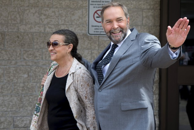 Le jour où Thomas Mulcair a remporté la course à la direction du NDP, mes... (Photo archives)