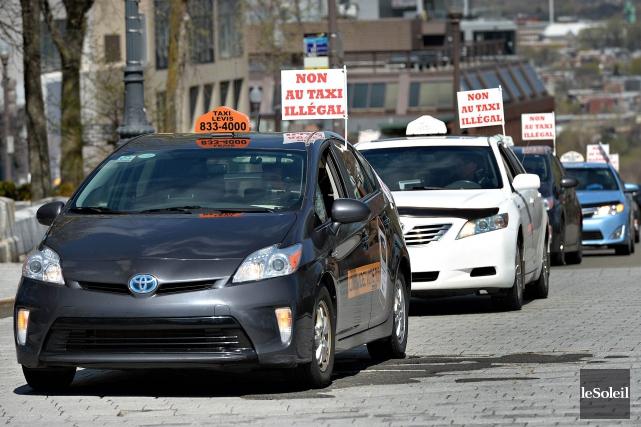 Mardi, plusieurs chauffeurs de taxi vont se mobiliser... (Photothèque Le Soleil, Patrice Laroche)