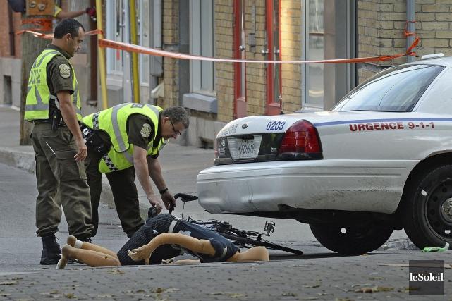 La scène de l'accident qui avait coûté la... (Photothèque Le Soleil, Patrice Laroche)
