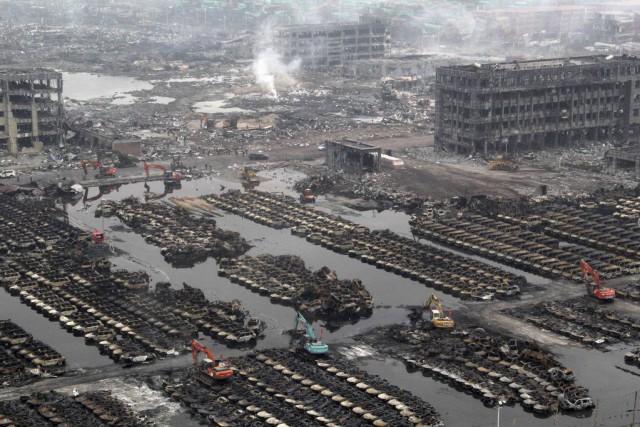 La catastrophe du 12 août à Tianjina fait... (PHOTO AFP)