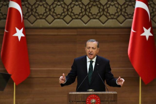 Le président de la Turquie, Recep Tayyip Erdogan.... (PHOTO ADEM ALTAN, AFP)