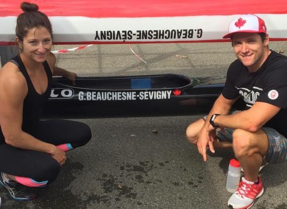 Geneviève et Gabriel Beauchesne-Sévigny amorcent leur route vers... (Photo: courtoisie)