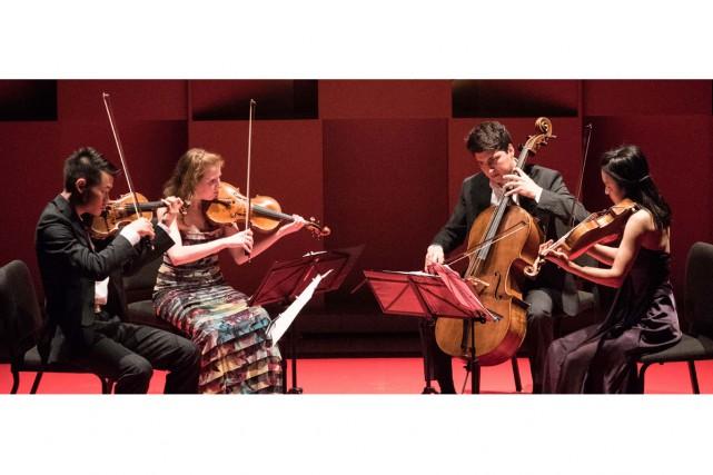 Le Quatuor Omer, des États-Unis, en concert hier... (PHOTO MARIE-PIERRE TREMBLAY, FOURNIE PAR L'ACADÉMIE DE MCGILL)